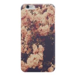"""Чехол для iPhone 6 """"Цветы"""" - цветы, flowers, pink, розовый, гламурно"""