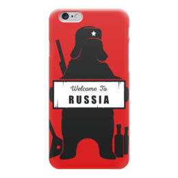 "Чехол для iPhone 6 глянцевый ""Welcome to Russia"" - welcome to russia, russia, россия, путин, прикол"
