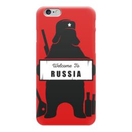 "Чехол для iPhone 6 ""Welcome to Russia"" - прикол, россия, russia, путин, welcome to russia"