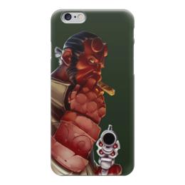 """Чехол для iPhone 6 """"ХЕЛЛБОЙ"""" - пистолет, демон, револьвер, hellboy, хеллбой"""