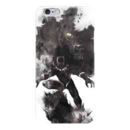 """Чехол для iPhone 6 """"Черная пантера"""" - комиксы, марвел, черная пантера, black panther"""
