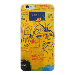 "Чехол для iPhone 6 ""Basquiat"" - граффити, корона, улицы, basquiat, баския"