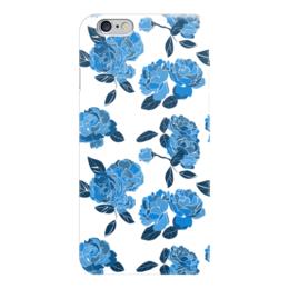 """Чехол для iPhone 6 """"Букет синих роз"""" - роза, розы, паттерн, blue"""