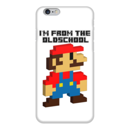 "Чехол для iPhone 6 глянцевый ""I'M FROM THE OLDSCHOOL"" - олдскул, марио, mario bros, nintendo"