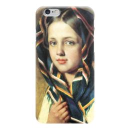 """Чехол для iPhone 6 """"Девушка в платке"""" - картина, венецианов"""
