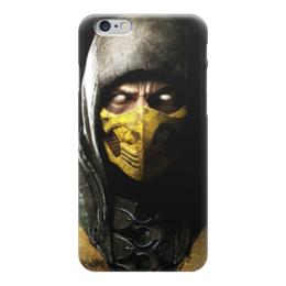 """Чехол для iPhone 6 """"Скорпион (Мортал Комбат)"""" - скорпион, mortal kombat, мортал комбат, scorpion, мк"""