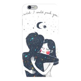"""Чехол для iPhone 6 """"Обнимашки"""" - девушка, космос, пара, обнимашки"""