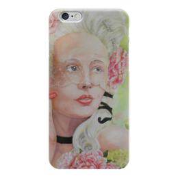 """Чехол для iPhone 6 глянцевый """"Твой лепесток"""" - девушка, принцесса, флирт, роскошь, интрига"""