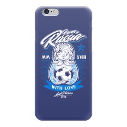 """Чехол для iPhone 6 глянцевый """"Футбол"""" - футбол, матрёшка, спорт"""