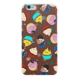 """Чехол для iPhone 6 глянцевый """"Капкейки в шоколаде"""" - еда, капкейки, вкусно, кексы, пирожные"""