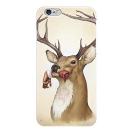 """Чехол для iPhone 6 """"Олень"""" - олень, deer, людоед"""