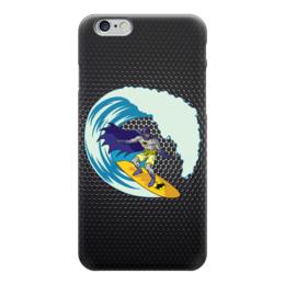 "Чехол для iPhone 6 ""Бэтмен на Сёрфе"" - batman, бэтмен, доска, серфинг"