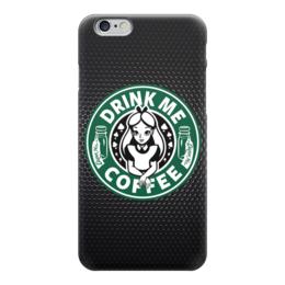 "Чехол для iPhone 6 ""Drink me Coffee (Налей мне Кофе)"" - кофе, coffee, алиса в стране чудес, alice in wonderland"