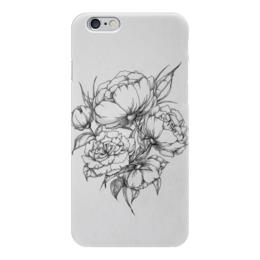 """Чехол для iPhone 6 """"Цветы """" - цветы, тату"""