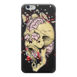 """Чехол для iPhone 6 """"Черепок"""" - skull, череп, мозг, кости, челюсть"""