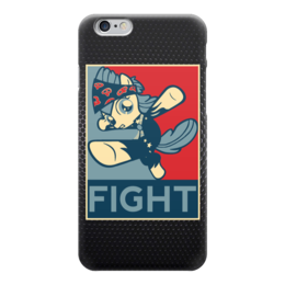 "Чехол для iPhone 6 глянцевый ""Fight (Obey)"" - my little pony, mlp, pony, fight"