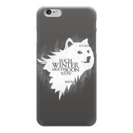 """Чехол для iPhone 6 """"Winter is Coming (Doge)"""" - мем, игра престолов, doge, зима близко, собакен"""
