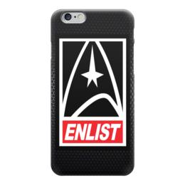 """Чехол для iPhone 6 """"Звездный Путь (Star Trek)"""" - obey, star trek, звездный путь, enlist"""