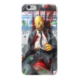 "Чехол для iPhone 6 глянцевый ""Симпсон"" - арт, симпсоны, мультик, айфон"