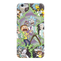 "Чехол для iPhone 6 ""Rick And Morty "" - simpsons, rick and morty, gravity fa, adventure t"