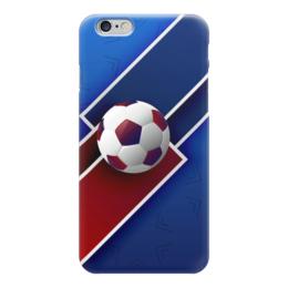 """Чехол для iPhone 6 глянцевый """"Футбол"""" - футбол, спорт, мяч, 2018"""