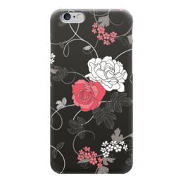 """Чехол для iPhone 6 """"Красная и белая розы"""" - цветы, белое, красное, розы"""