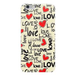 """Чехол для iPhone 6 """"Любовь"""" - сердце, любовь"""
