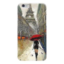 "Чехол для iPhone 6 глянцевый ""Дождь в Париже"" - эйфелева башня, paris, париж, франция, france"