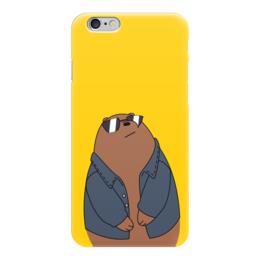 """Чехол для iPhone 6 """"Медведь в крутых очках"""" - медведь, мультфильм, очки, смешной, куртка"""