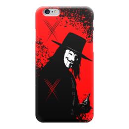 "Чехол для iPhone 6 ""VENDETTA!!!"" - граната, улыбка, анонимус, гай фокс, вендетта"