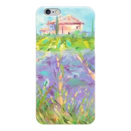"""Чехол для iPhone 6 """"Прованские просторы"""" - прованс, provence, валерия меценатова, funny smile"""
