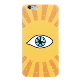 """Чехол для iPhone 6 """"Ретро глаз"""" - арт, глаз, ретро, дизайн, лучи"""