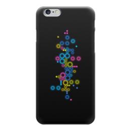 """Чехол для iPhone 6 """"Психоделика 2"""" - пузырьки, цвет, абстракция, чёрный фон"""