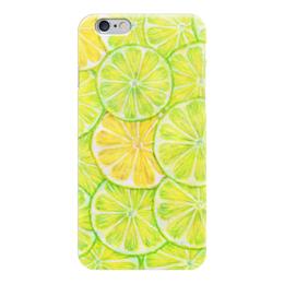 "Чехол для iPhone 6 ""Лимончелло"" - рисунок, паттерн, лайм, лимон"