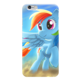 "Чехол для iPhone 6 ""Радуга Дэш"" - rainbow dash, my little pony, friendship is magic, радуга дэш"