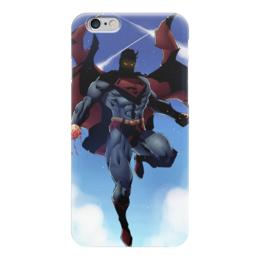 "Чехол для iPhone 6 ""Супермен (Superman)"" - комиксы, супермэн, dc, dc comics, супс"