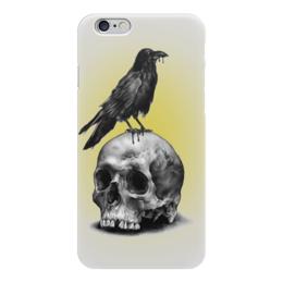 "Чехол для iPhone 6 ""Ворон на черепе"" - skull, череп, ворон, raven, арт дизайн"