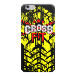 "Чехол для iPhone 6 ""CROSSFIT"" - gym, спортзал, crossfit, кроссфит, тренинг"