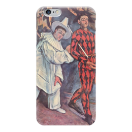 "Чехол для iPhone 6 ""Пьеро и Арлекин"" - картина, сезанн"