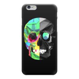 """Чехол для iPhone 6 """"Digital skull"""" - skull, череп, digital"""