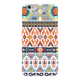 "Чехол для iPhone 6 ""Seamless bright pattern in tribal style"" - ethnic, native, aztec, navajo, tibal"