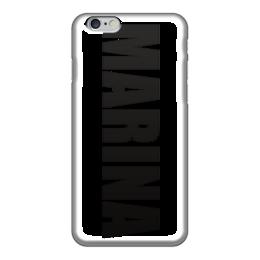 """Чехол для iPhone 6 """"с именем Марина"""" - чехол с именем, чехол с именем марина, марина"""