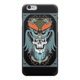"Чехол для iPhone 6 ""Art Horror"" - skull, череп, сова, evil, owl"