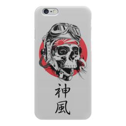 """Чехол для iPhone 6 """"Камикадзе"""" - япония, иероглифы, камикадзе, божественный ветер"""