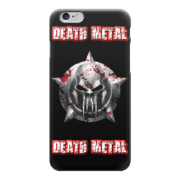"Чехол для iPhone 6 ""Death Metal"" - skull, череп, death metal, рок музыка, metal music"