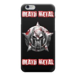 "Чехол для iPhone 6 ""Death Metal"" - skull, череп, death metal, рок музыка, metal music"