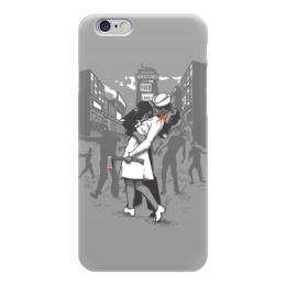 """Чехол для iPhone 6 глянцевый """"Поцелуй навылет"""" - зомби, поцелуй, kiss, love, zombie"""