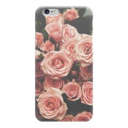 """Чехол для iPhone 6 глянцевый """"Цветы"""" - арт, лето, цветы, розы, roses"""