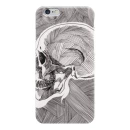 "Чехол для iPhone 6 ""Череп"" - skull, череп, линии, stripes"