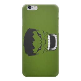 "Чехол для iPhone 6 ""  Халк"" - iphone, зеленый, marvel, минимализм, халк"
